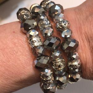 OOAK Genuine Swarovski Crystal Bracelet & Earrings